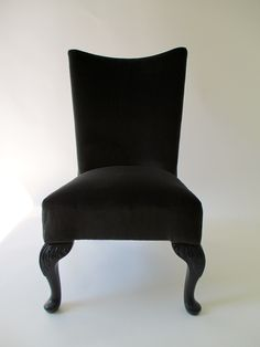 Occasional Chair Covered In A Charcoal Velvet