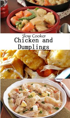 Slow Cooker Chicken and Dumplings Healthy Slow Cooker, Healthy Crockpot Recipes, Slow Cooker Recipes, Vegetarian Recipes, Chicken And Dumplings, Slow Cooker Chicken, Perfect Food, Destiny, Crock Pot