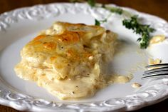 Try this substitute the next time you make scalloped potatoes: Daikon! Just like scalloped potatoes but without all the carbs and starch. So you can feel good about smothering it in cheese! Gonna try this..