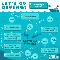 Should you dive or not? Here's a flow diagram to help you make a decision. #scuba #diving