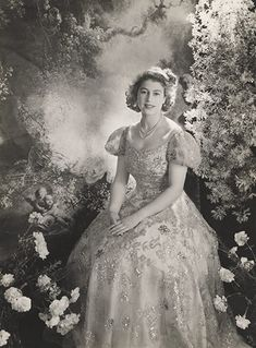 HM Queen Elizabeth II as a young woman. How Beautiful, and is still!!