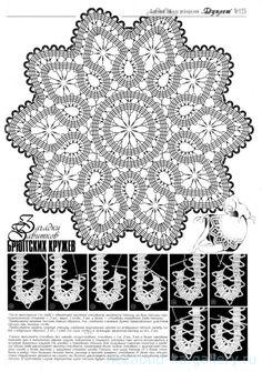 "Photo from album ""Дуплет on Yandex. Filet Crochet, Crochet Diagram, Thread Crochet, Crochet Stitches, Bruges Lace, Crochet Motif Patterns, Bobbin Lace Patterns, Russian Crochet, Irish Crochet"