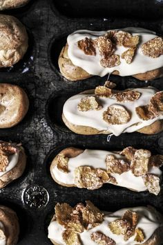 cereal milk and white chocolate eclairs