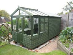 wooden greenhouse solar potting shed combined shed greenhouse