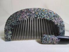 [Kotsuki] of four seasons flower Raden crafted of antique book tortoiseshell Sakuragai schrenckii comb & 笄) _ image 1