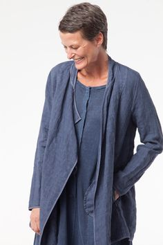 SOLD OUT. Jacket Trixi in colors Denim and Linen available at calgary.oska.com