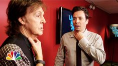 Jimmy Fallon and Paul McCartney Switch Accents (Late Night with Jimmy Fallon). Paul McCartney is still adorable :D