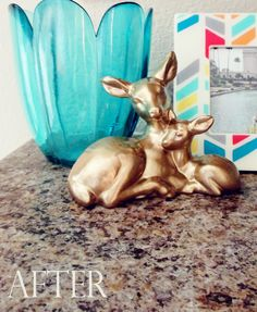 {Oh Deer} Transforming a Goodwill Find with gold spraypaint!