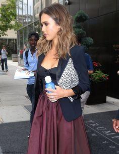 Jessica Alba style in New York. #jessicaalba