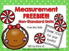I'm celebrating my product by giving you a freebie! This is a great little activity to prep and set out in your math centers, for practice with non-standard measurement! I want to thank you for y (Christmas Activities For Students) Measurement Kindergarten, Measurement Activities, Math Measurement, Preschool Math, Fun Math, Kindergarten Math, Math Activities, Maths, Elementary Math