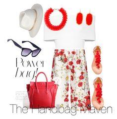 """""""Summertime with The Handbag Maven"""" by thehandbagmaven ❤ liked on Polyvore featuring Dolce&Gabbana, Rosetta Getty, Aquazzura, Kendra Scott and Mary Katrantzou"""