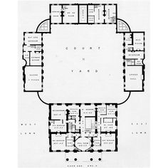 First floor plan of Berrington Hall.