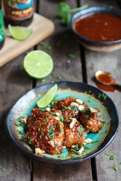 Sweet and Sour Sticky Thai Boneless Oven Baked Chicken Wings | halfbakedharvest.com
