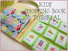 Kids shopping book tutorial. very cute, keep the kids busy at the grocery store!!