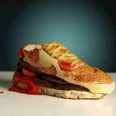 A cheeseburger shoe? What the hell?
