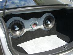 Cadillac CTS V 2005 custom subwoofer enclosure