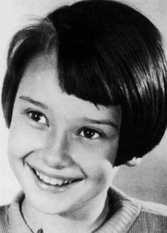 A young Audrey Hepburn, 1939.  Photograph by Manon van Suchtelen.