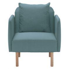 FINO Teal fabric armchair