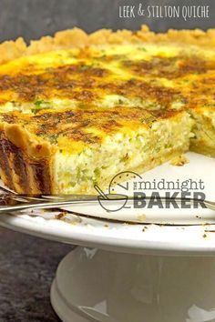 Leek and Stilton quiche is not your usual quiche. The savory flavor of leeks combined with the bold flavor of Stilton cheese make this special. Vegetable Base Recipe, Leek Quiche, Stilton Cheese, Gourmet Cheese, Quiche Recipes, Just Cooking, How To Make Cheese, Base Foods, A Food