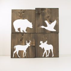 Rustic+wood+signs+Set+of+4+signs+rustic+fall+by+RusticBabyBoutique,+$40.00