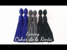 #МК - Серьги Оскар де ла Рента из бисера | #Tutorial - Earrings Oscar de La Renta beaded - YouTube