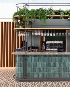 Greens Restaurant, Cafe Restaurant, Restaurant Design, Pub Interior, Bar Interior Design, Bar Tile, Green Cafe, Architecture Restaurant, Pub Design