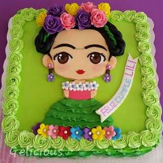 Cutest cake ever, Lis! Fiesta Cake, Fiesta Theme Party, Festa Party, Mexican Birthday Parties, Mexican Party, Mexican Snacks, Frida Kahlo Birthday, Puppy Cake, Cute Cakes