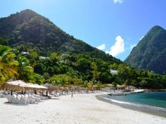 Jalousie Beach on the slopes of the Pitons in St Lucia