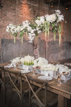 Loft Wedding Ideas with Elegant Design 2019 Photo: MGB Photo via Style Me Pretty; Love the hanging flower box idea! The post Loft Wedding Ideas with Elegant Design 2019 appeared first on Flowers Decor. Loft Wedding Reception, Mod Wedding, Chic Wedding, Wedding Table, Rustic Wedding, Wedding Aisles, Wedding Backdrops, Wedding Ceremonies, Ceremony Backdrop