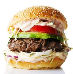 Chipotle Burger with Creamy Coleslaw #recipe