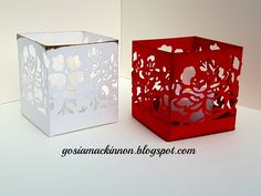 TEA LIGHT HOLDERS USING DETAILED FLORAL THINLITS BY STAMPIN UP