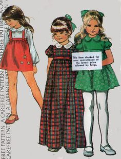 1970s Vintage Sewing Pattern McCall's 3887 Girls by sandritocat, $7.00