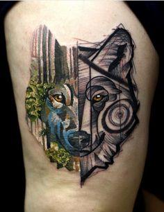 Snioka Martynas Shnioka wolf tattoo