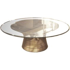 Vintage Bronze Coffee Table by Warren Platner for Knoll | From a unique collection of antique and modern coffee and cocktail tables at http://www.1stdibs.com/furniture/tables/coffee-tables-cocktail-tables/