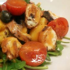 #insalata di #polipo con #olive #patate e #rucola buonaa!!! #hallbar #milano #sarpi #chefluigi #instafood