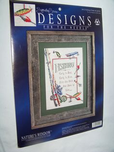 Signature Series Designs for the Needle FISHING LURES Counted Cross Stitch Kit  #DesignsfortheNeedle