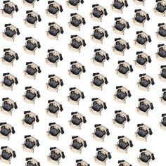 Use this pattern to make a cute Pug Background for your Twitter or Blog Page