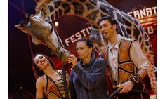 Princesse Stephanie of Monaco made a friend during the 42nd International Circus Festival in Monte-Carlo on January 16. Grace Kelly's daughter, who once traveled with a circus, was pictured feeding a giraffe while at a photocall for the event.