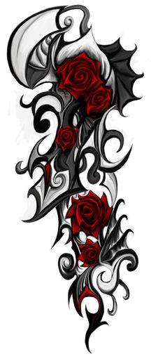 Maori Tattoos, Tribal Rose Tattoos, Hawaiian Tribal Tattoos, Tribal Tattoos For Women, Forearm Tattoos, Sleeve Tattoos, Tattoo Thigh, Dragon Tattoos, Small Tattoo Placement