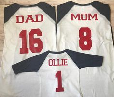 3 Baseball Family Shirts Boys Birthday Party Matching 1st Reunion