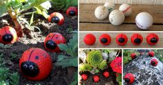 Golf Ball Ladybugs Craft Is A Super Cute DIY