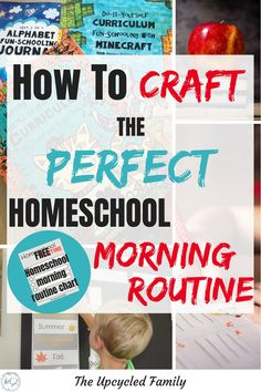Wish your homeschool mornings would go smoother? How to craft a perfect Homeschool Routine. Plus a FREE Homeschool Routine Chart! Morning Routine Chart, Home Schooling, Homeschool Curriculum, Working Moms, School Fun, Schedule, Craft, Rock, 3d Printing