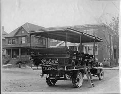 Packard Bus 1910 - Used for tourist trips up in Crystal Park.  A Packard Jitney Bus.