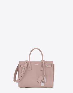 8b57f52ea4 SAINT LAURENT Baby Sac De Jour Souple Bag In Powder Pink Grained Leather.  #saintlaurent