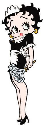 Betty Boop  , reminds me of when I USED to be a housekeeper :)