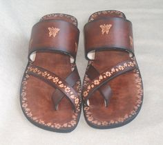 Handmade leather sandals $70