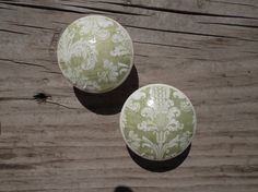 Sage Green Damask  Floral Shabby Cottage Chic by ReadinginRags, $3.75