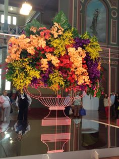 Amazing floral display from Vasette at Melbourne Flower show
