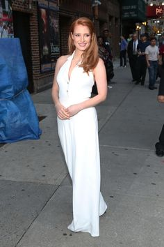 Jessica Chastain – 2014-10-16 – arriving at the 'Late Show with David Letterman' in New York (no. 3667)