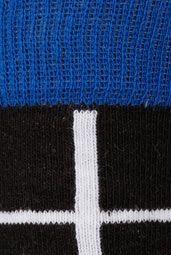 Blue and Black Lattice Socks
